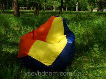 Разноцветное детское кресло мешок груша 100*75 см из ткани Оксфорд